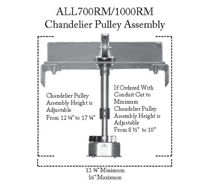 Chandelier Pulley Assembly 700 1000rm Koizumi Lighting